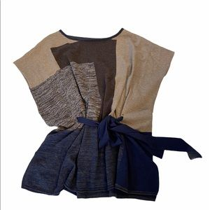 BCBG Oversized Belted Knit Vest O/S EUC